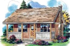 Cottage Style House Plan 0 Beds 1 Baths 300 Sq Ft Plan 18 4522