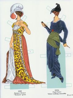 French Fashion Designers 1900-1950 | Gabi's Paper Dolls