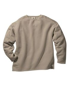Mens 11 oz Pigment-Dyed Cotton Boxy Crew Mocha, Corporate Apparel and Clothing