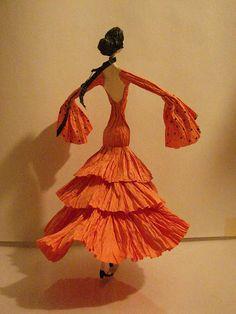 Spanish paper mache doll.