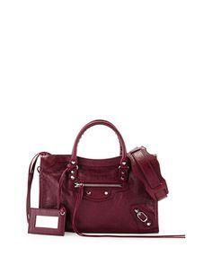 BALENCIAGA Classic City Nickel Small Tote Bag. #balenciaga #bags #shoulder bags #hand bags #leather #tote #cotton #