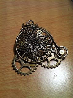 STEAMPUNK (Mono Wheel) ) Brooch on Etsy, £8.99