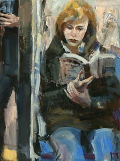 ARTFINDER: Realities by Darren Thompson - Realities is part of a series of depicting the female figure reading. I use subdued colors and loose brush strokes, as in most of my paintings, in order to c...