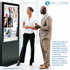 #Kiosk can be #easily controlled by the #business #provider, #information can be designed to #prevent #irrelevant and #time #consuming #customer demands, thus creating an efficient as well as #effective #marketing and #sales #tool. #TucanaGlobalTechnology #Manufacturer #HongKong