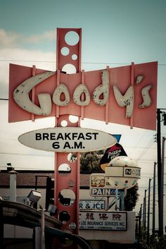 Goody's (San Gabriel CA). Can you imagine the machine that punches those circles out of I-beam that huge? Wooooweeee!