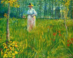 Vincent van Gogh A Woman Walking in a Garden,1887.