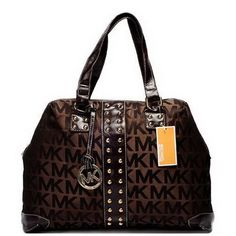 Michael Kors Logo-Print Large Brown Totes Outlet