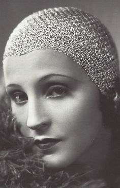 """Brigitte Helm, in the silent movie """"Metropolis""""  1927 actress from the 20', 30's"""
