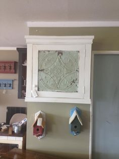 Lovely piece with original ceiling tile built into the door