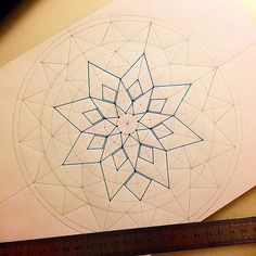 How to start up a mandala- Link has some great step by step photos of mandalas