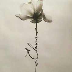 This is how flower tattoos with names will look like in 11 years Flower t . - This is how flower tattoos with names will look like in 11 years - Daughters Name Tattoo, Name Tattoos For Moms, Baby Name Tattoos, Tattoos With Kids Names, Mom Tattoos, Cute Tattoos, Body Art Tattoos, Sleeve Tattoos, Flower Tattoos With Names