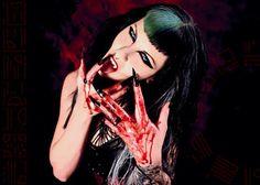Model Sandra Lilu Blackheart as a hungry Vampiress taken by Rigger Mortis