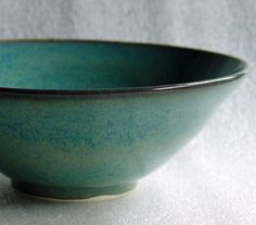 Wheel Thrown Pottery Bowl in Speckled Blue