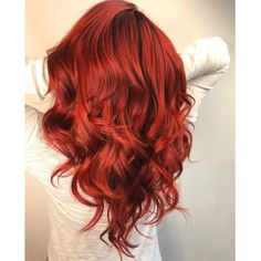 24 Seductive Shades Of Red Hair For Any Complexion And Eye Color Saturated Ruby Red Hair Color ❤️ Discover the red hair color chart! Strawberry blonde, copper, dark auburn and lots of colors are waiting for you. These ombre an Ruby Red Hair Color, Hair Color 2018, Shades Of Red Hair, New Hair Colors, Cool Hair Color, Teal Hair, Vibrant Red Hair, Cherry Red Hair, Red Orange Hair