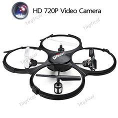 UDI U818A 4CH 360° Flips 2.4GHz RC Quadcopter Drone with 2MP Camera Headless Mode RTF TRC-390164