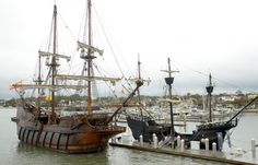 A comparison between a Spanish Galleon from the century and a caravel of the same era Spanish Galleon, Roman Era, Wooden Ship, Victoria, Model Ships, Tall Ships, 16th Century, Troops, Sailing Ships