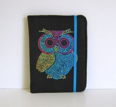 Owl Sequins Kindle Cover Hardcover Kindle Case Nook Cover by CathyKDesigns, $29.00
