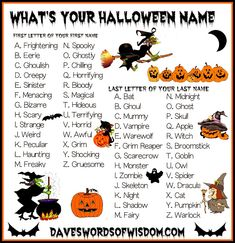 famous halloween characters names - Yahoo Image Search Results Halloween Names, Holidays Halloween, Scary Halloween, Halloween Crafts, Happy Halloween, Halloween Ideas, Halloween Halloween, Funny Name Generator, Monster Names