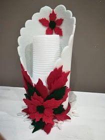 Crear con foamy: Como hacer un práctico porta vasos para fiesta Foam Crafts, Diy Arts And Crafts, Craft Stick Crafts, Hobbies And Crafts, Crafts For Kids, Diy Crafts, Christmas Makes, Christmas Tag, Christmas Crafts