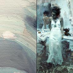 "WEBSTA @ redrabbit7 - ""Krasavitsa""24 x 48 inchesOil on Panel (Full painting and a detail)"