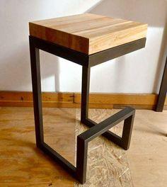 Modern Steel/wood stool