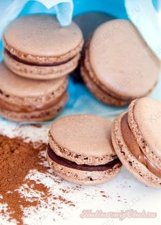 Шоколадные Макаруны Macarons on http://kulinarniyclub.ru