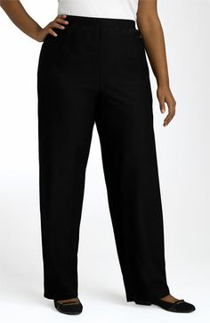 Eileen Fisher Straight Leg Crepe Pants (Plus Size) available at #Nordstrom (3X)