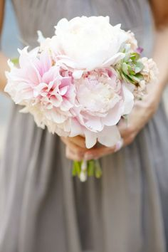 Blush bridesmaid bouquet by Twig & Twine. Style Me Pretty | Gallery