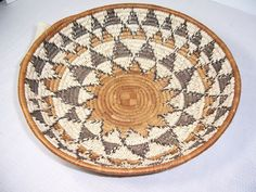 Zulu South African Large Hand Woven Traditional Gathering Basket