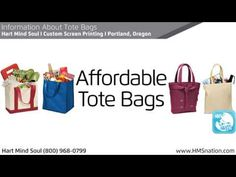 Get Information About Custom Tote Bags online from Hart Mind Soul. Proudly serving the greater Portland, Oregon and Vancouver, Washington areas for over 20 y. Tote Bags Online, Custom Screen Printing, Custom Tote Bags, Up And Running, All In One, Eco Friendly, The Creator, Marketing, Learning