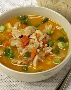 Soupe minceur : soupe chinoise au poulet
