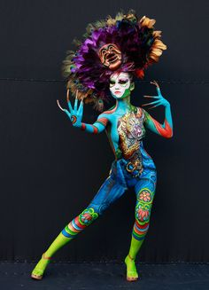 A model participates in the 2012 International Body Painting Festival at Duryu Park on Sept. 1, 2012, in Daegu, South Korea. The festival is the largest event in the field of body painting and spreads the art form to thousands of interested visitors each year.