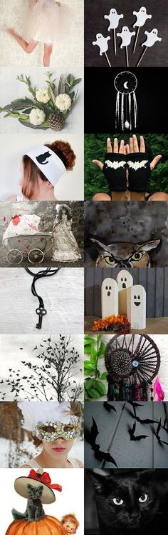 Haunted mansion  by Samantha Miller on Etsy--black chaoschallenge chaoscurators fall gift for the home halloween decor hauntedmansion holiday gifts hot love treasurybox white