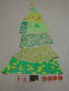 Transient art Christmas tree made with sticks, nuggets & lego Gloucestershire Resource Centre http://www.grcltd.org/scrapstore/