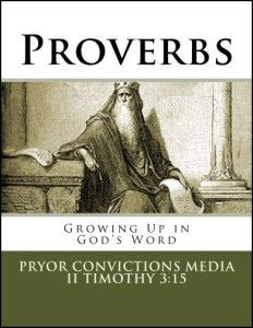 New Proverbs study for kids! 13 lessons covering topics such as choosing good friends, family relationships, money, our words, stubbornness and more. | Pryor Convictions Media