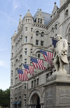 I know he wasn't president but... Benjamin Franklin Statue In Front Of The Old Post Office - Washington Dc Photograph  - Benjamin Franklin Statue In Front Of The Old Post Office - Washington Dc Fine Art Print