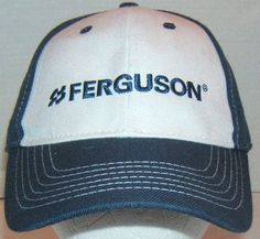 x CLEARANCE! Fergurson Embossed Baseball Style Cap Wool Blend Blue Fits  Most  fashion   bb30952d21af