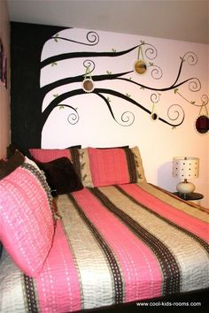 master bedroom ideas master-bedroom Pink and Brown Teen Girl Bedroom Decorating, Cynthia & Theo McBride, bedroom decorating ideas for girls. Bedroom Decor For Teen Girls, Teen Girl Rooms, Bedroom Ideas, Tween Girls, Teenage Room, Girl Decor, Cool Kids Rooms, Home And Deco, Awesome Bedrooms