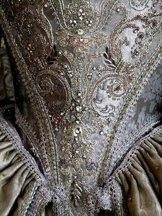 Villarcaeux 18th century Dress Embroidery by Oliver Henry- Musetouch Visual arts studio
