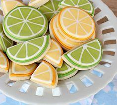 citrus inspired cookies