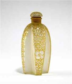 """1925 R. Lalique, Gabilla Perfume Bottle.  This is only 3 3/4"""" tall but packs a punch."""