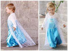 Elsa Halloween Costume, Anna Costume, Frozen Costume, Queen Costume, Princess Costumes, Girl Costumes, Baby Halloween, Girls Frozen Dress, Anna Dress Frozen