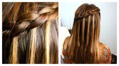 DIY Dutch Waterfall Braid Video Tutorial {5 minutes} | Popular Hairstyles #WaterfallBraid #Hairstyles