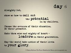 day 6 of The Prayer Manifesto for Moms