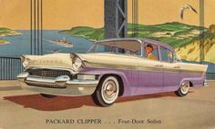Advertising Postcard 1957 Packard Clipper Four-Door Sedan Automobile~108364