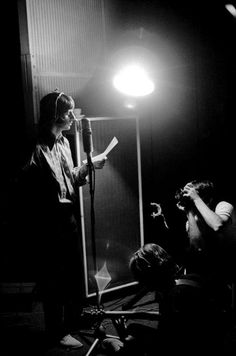 "Paul photographs Ringo at a recording session for the album ""The Beatles"" (White Album)"