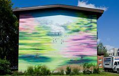 L'une des murales de MU dans les Habitations Jeanne-Mance