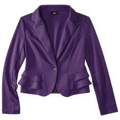 Mossimo® Womens Peplum Ponte Jacket - Assorted Colors