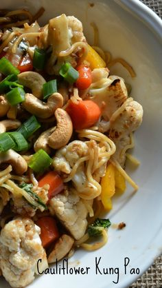 Cauliflower Kung Pao - #vegan version of a takeout favourite #YMC
