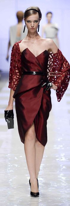 Fausto Sarli Fall Winter 2013-14 Haute Couture ; is it just me or does she look angry.